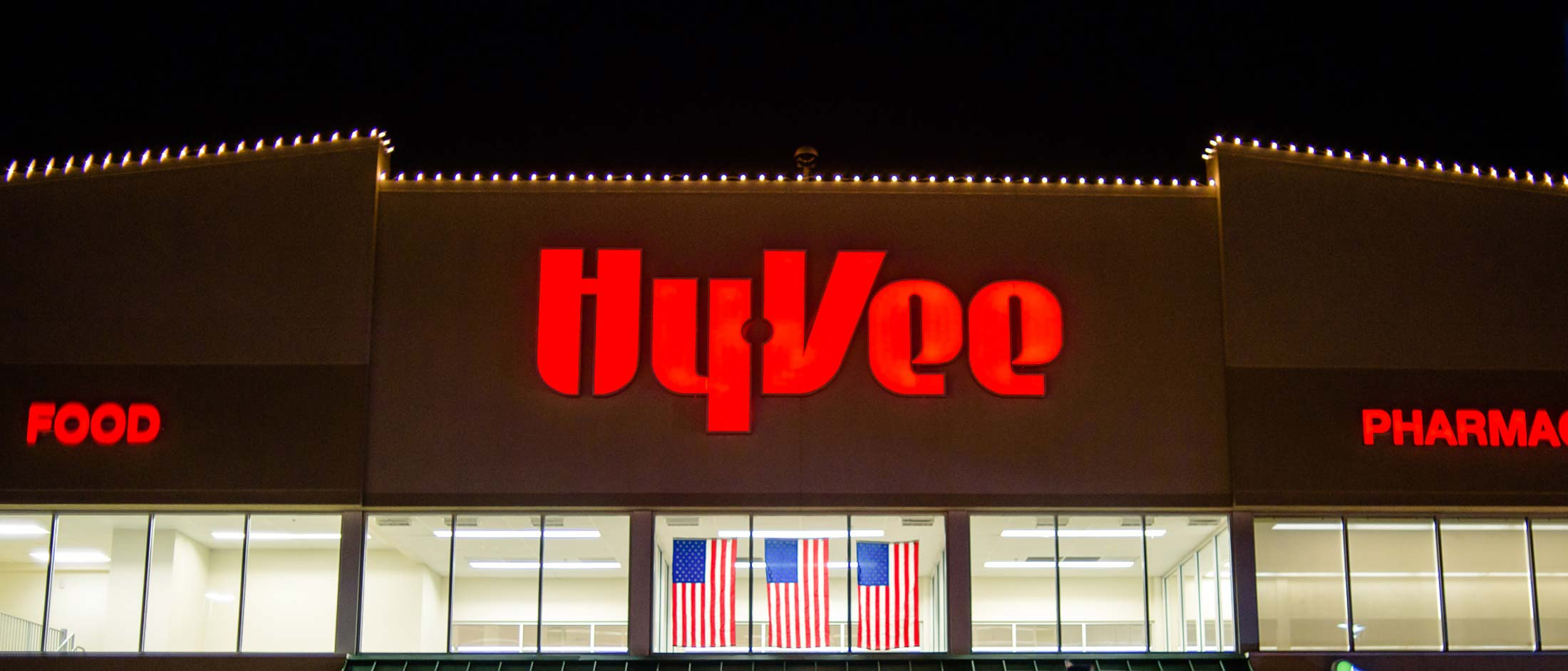 Hyvee christmas holiday lighting
